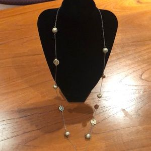 Jewelry - Brushed Gold Long Chain Necklace
